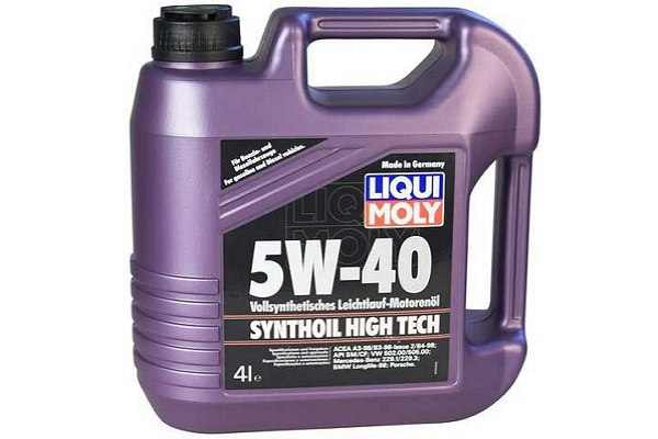 "1915 Масло моторное 5W-40 Synthoil High Tech ""Liqui Moly"" 4л."