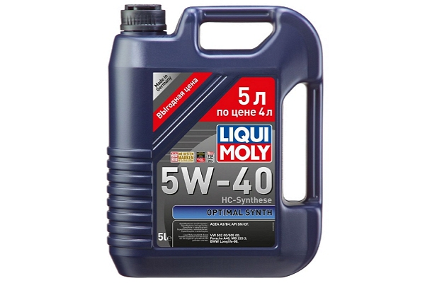 "2287 Масло моторное 10W-40 Optimal ""Liqui Moly"" 5л."