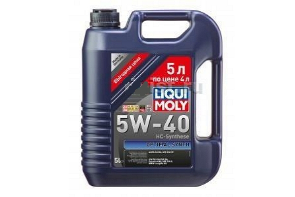 "2293 Масло моторное 5W-40 Optimal Synth ""Liqui Moly"" 5л."