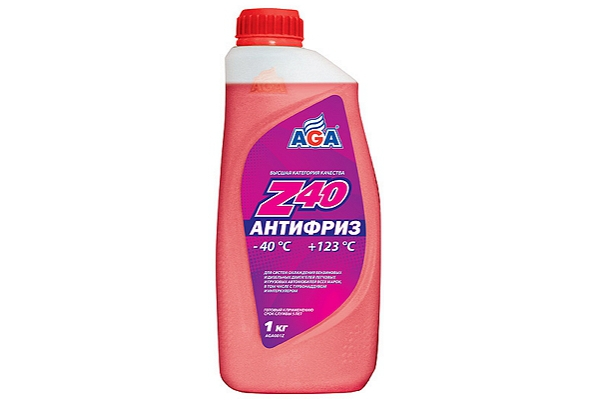 "AGA001Z Антифриз красный Z40 ""AGA"" 1кг."