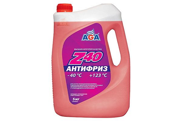"AGA002Z Антифриз красный Z40 ""AGA"" 5кг."