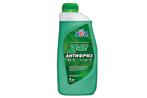 """AGA048Z Антифриз зеленый Z40 """"AGA"""" 1кг."""
