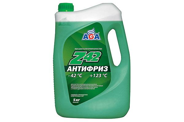 """AGA049Z Антифриз зеленый Z42 """"AGA"""" 5кг."""